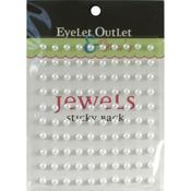 White - Bling Self-Adhesive Pearls 5mm 100/Pkg