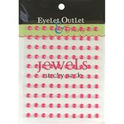 Pink - Bling Self-Adhesive Jewels 5mm 100/Pkg