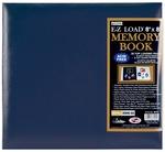 "Navy - Leatherette Post Bound Album 8""X8"""
