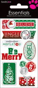 Merry Christmas Dimensional Stickers