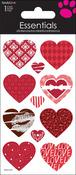 Patterned Hearts - SandyLion Essentials Dimensional Stickers