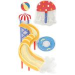 Water Park - SandyLion Essentials Dimensional Stickers