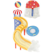Water Park - SandyLion Essentials Dimensional Stickers