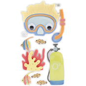 Scuba Adventure - SandyLion Essentials Dimensional Stickers