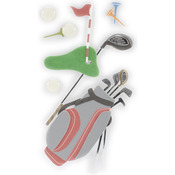 Golfing - SandyLion Essentials Dimensional Stickers