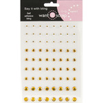 Amber - Want2Scrap Self-Adhesive Rhinestones 72/Pkg