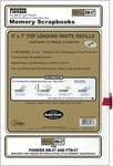 """5""""X7"""" (W/White Inserts) - Post Bound Top-Loading Page Protectors 5/Pkg"""