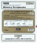 """8.5""""X11"""" (W/White Inserts) - Post Bound Top-Loading Page Protectors 5/Pkg"""