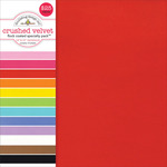 "Flocked Crushed Velvet - Doodlebug Specialty Cardstock Value Pack 12""X12"" 12/Pkg"