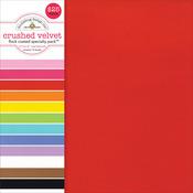 """Flocked Crushed Velvet - Doodlebug Specialty Cardstock Value Pack 12""""X12"""" 12/Pkg"""