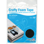 Black Crafty Foam Tape Roll - Scrapbook Adhesives