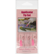 3D Crystal Lacquer Applicator Tips 2/Pkg, .6mm W/Cleaning Pin