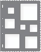 "Squares - Shape Template 8.5""X11"""