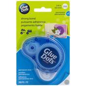 "200 Clear Dots - Glue Dots .375"" Permanent Dot Disposable Dispenser"