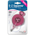 Permanent, Use In 12066 - Scrapbook Adhesives E-Z Squares Refill 650/Pkg