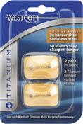 Westcott Paper Trimmer Titanium Replacement Blades 2/Pkg - Straight, For 13779 &