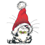 Jolly Xmas Kitty - Penny Black Mounted Rubber Stamp