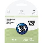 Glue Dots Mini Dot Sheets Value Pack-600 Clear Dots