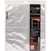 "10/pkg - 8.5""X11"" 3 Hole Refill Pages Holds 40 5""X7"" Photos"