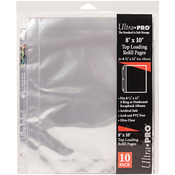 """10/pkg - 8.5""""X11"""" 3 Hole Refill Pages Holds 20 8""""X10"""" Photos"""