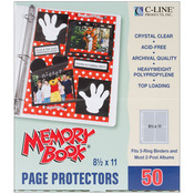 """Memory Book Top-Loading Page Protectors 8.5""""X11"""" 50/Pkg"""