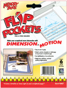 "Flip Pockets Peel & Stick Holders 4""X6"" 6/Pkg-"