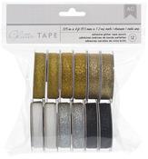 "Golden - American Crafts Glitter Tape .375""X4' 12/Pkg"