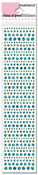 Turquoise - Class A'peel Dot Sparkler Stickers