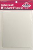 "Clear - Embossable Window Plastic Sheets 4.25""X5.5"" 20/Pkg"