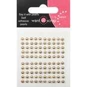 Le Creme Pearls - Want2Scrap Self-Adhesive Baby Bling 2.5mm 100/Pkg