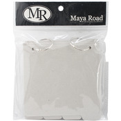 Maya Road Chipboard Album W/Tabs - Square: 8 Pages & 2 Rings