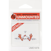 "Fainted Chicken - Art Impressions Bird Brains Cling Rubber Stamp 2.5""X1"""