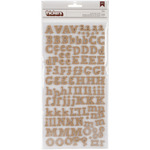 "Eric - Burlap - DIY Thickers Alphabet Stickers 6""X11"" Sheets 2/Pkg"