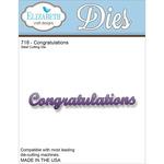 Congratulations - Elizabeth Craft Metal Die