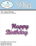 Happy Birthday Metal Die - Elizabeth Craft Designs