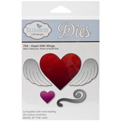 Heart with Wings Metal Die - Elizabeth Craft Designs