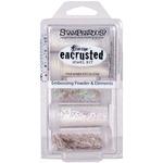 White - Stampendous Encrusted Jewel Kit 5/Pkg