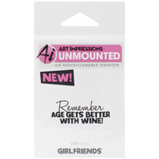 Better With Wine - Art Impressions Girlfriends Cling Rubber Stamp