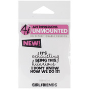 This Hilarious - Art Impressions Girlfriends Cling Rubber Stamp