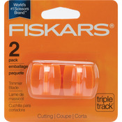 Straight, Style I - Fiskars TripleTrack High-Profile Replacement Blades 2/Pkg