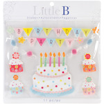 Birthday Little B Large Stickers