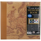 "Map - Designer Print Post Bound Album 12""X12"""