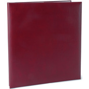 "Burgundy - Leatherette Post Bound Album 8.5""X11"""