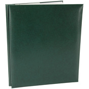 "Green - Leatherette Post Bound Album 8.5""X11"""