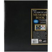 "Black - Leatherette Post Bound Album 8.5""X11"""