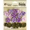 Purple - Darjeeling Teastained Petite Flowers