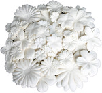 """White Assorted - Color Me Crazy Flower Layers .875"""" To 4.25"""" 360/Pkg"""