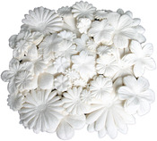 "White Assorted - Color Me Crazy Flower Layers .875"" To 4.25"" 360/Pkg"