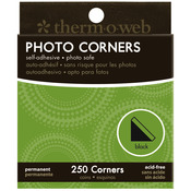 Black - Photo Corners Boxed 250/Pkg