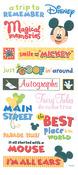 Mickey Themepark Phrase Stickers - Disney